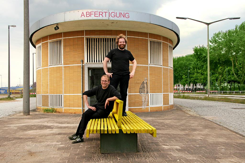 Oliver Hasemann und Daniel Schnier von der ZwischenZeitZentrale