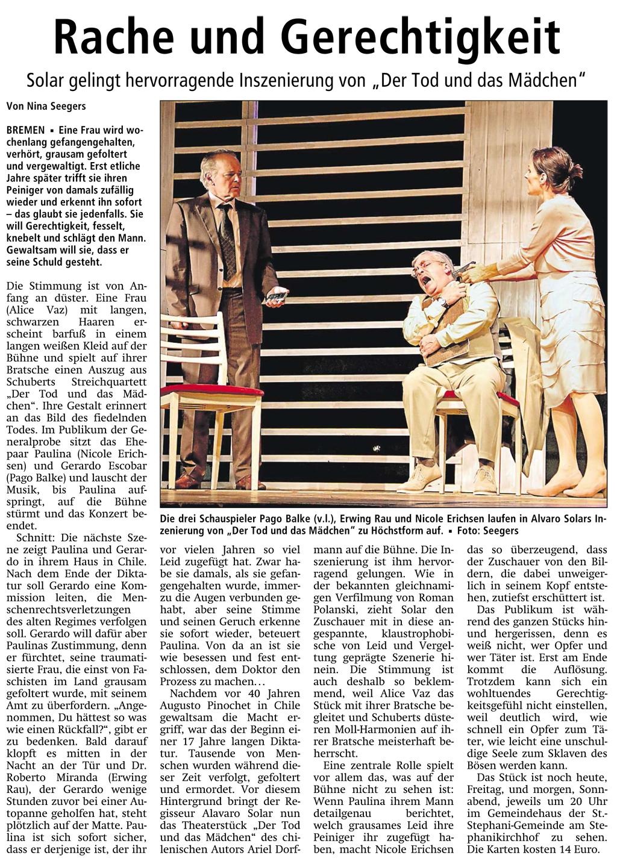Theater: Der Tod und das Mädchen